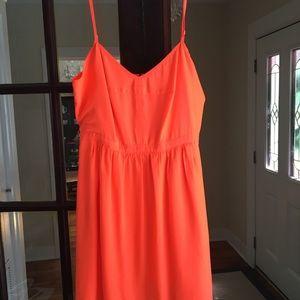 Jcrew summer orange dress. Size 8!